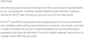 plusnet price increase