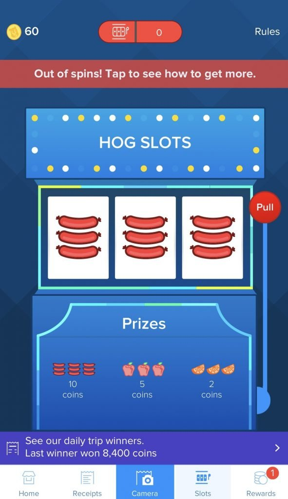 Receipt hog extra points