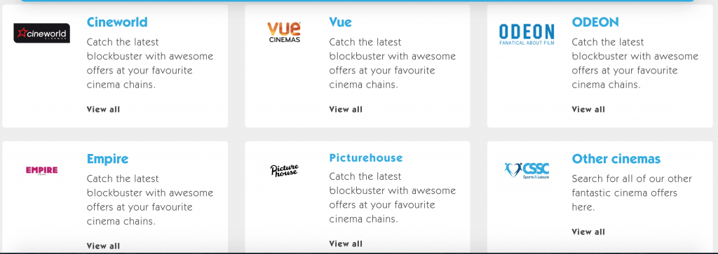 CSSC cinema ticket discount list