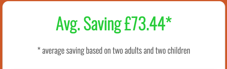 Potential savings for a family at legoland