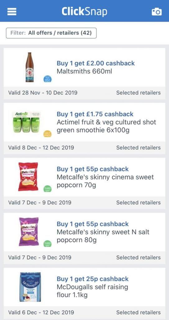 ClickSnap cashback app