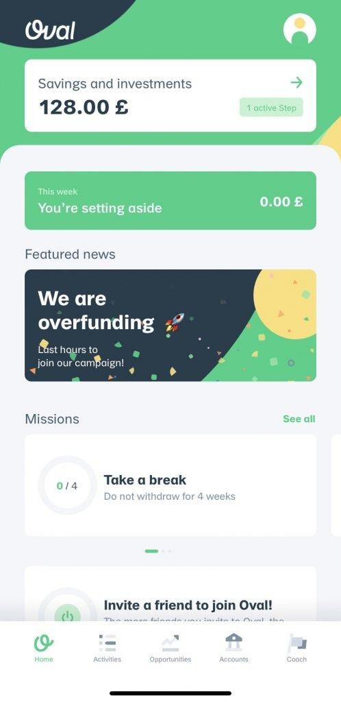Oval personal finance app