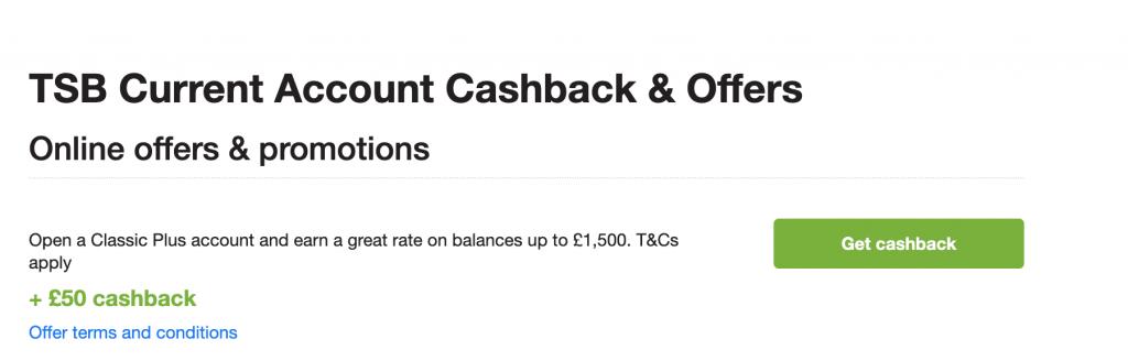 tsb quidco £50 offer