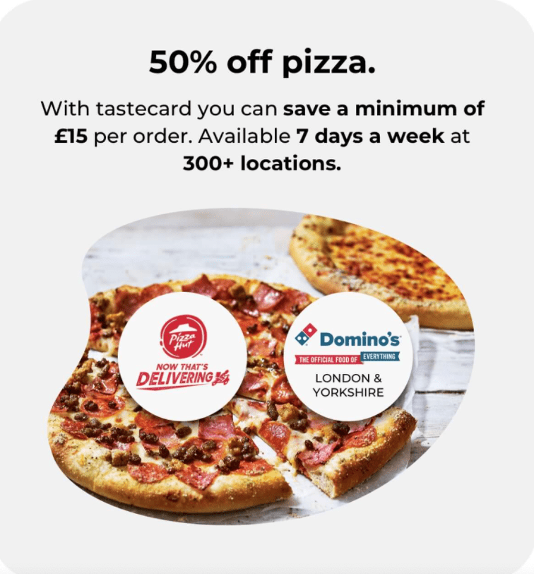 50% off with Tastecard