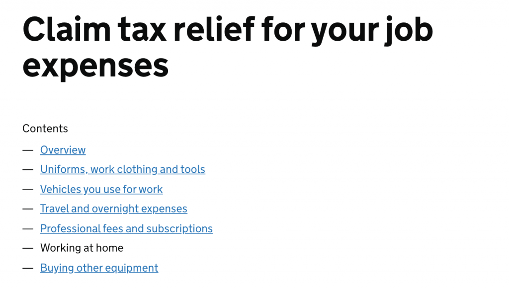 How to claim tax relief