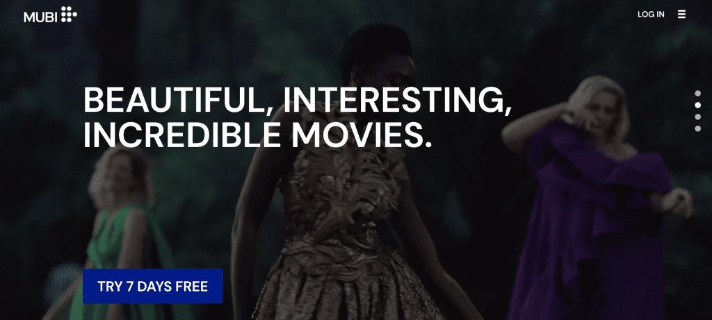 Mubi movie streaming service