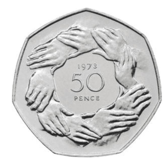 1973 50 pence piece