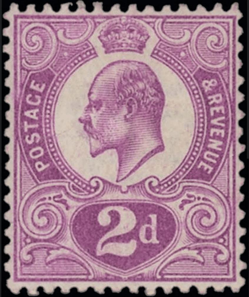 Edward VII 2d Tyrian Plum
