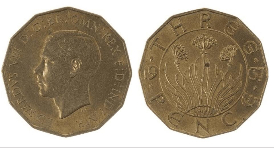 Edward VIII Brass Threepence