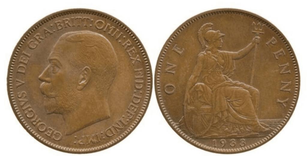 George V penny 1933