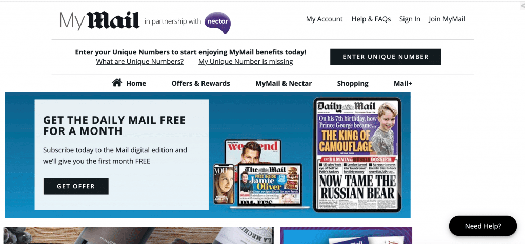 Nectar points and mymail
