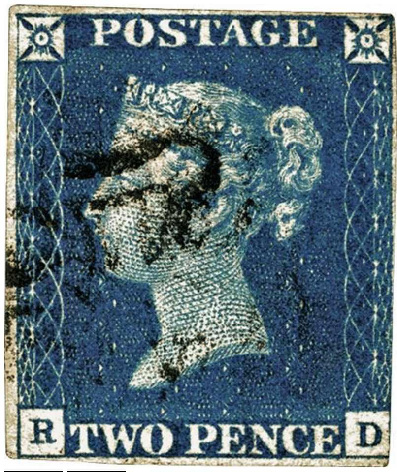 Two Penny Blue Stamp