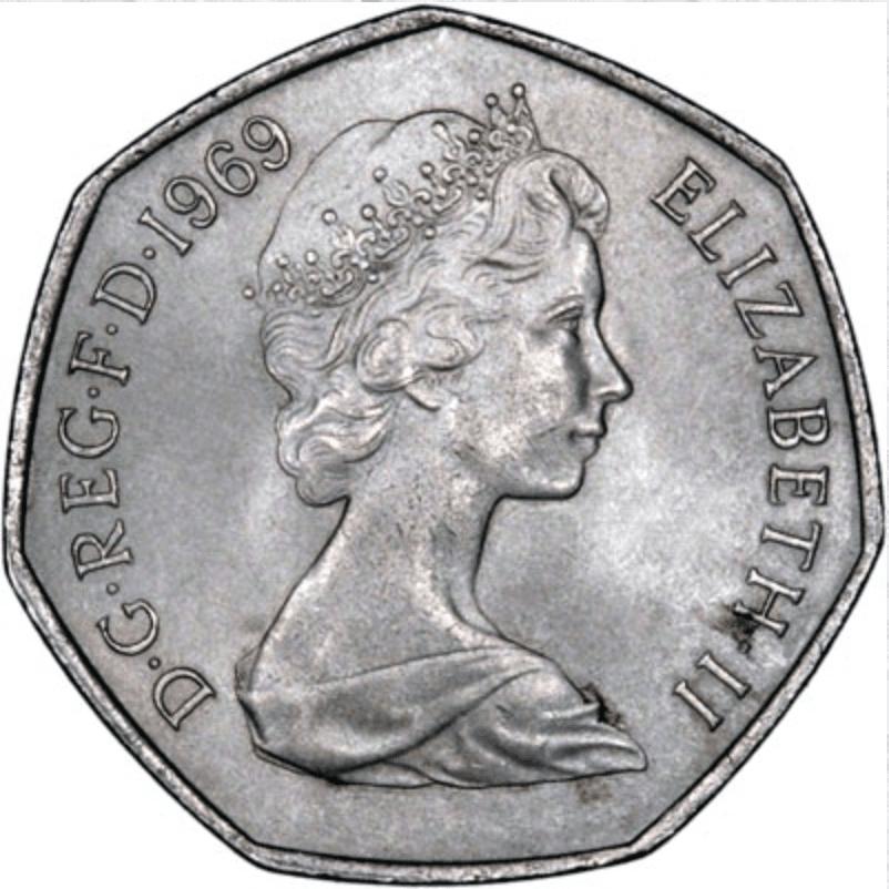 first 50p coin