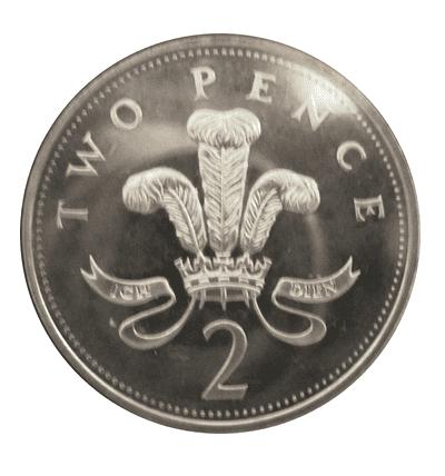 silver 2 pence piece