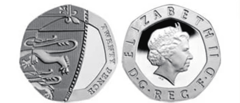 undated 20 pence - valuable