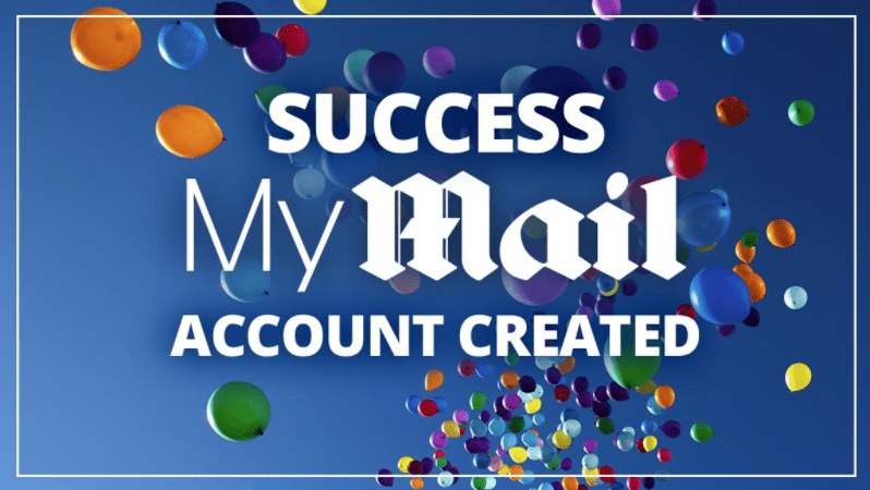 Welcome email when you open your mymail account