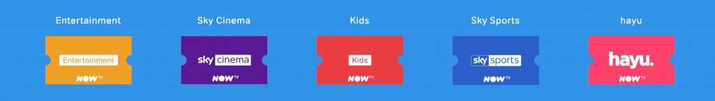 selection of now tv passes