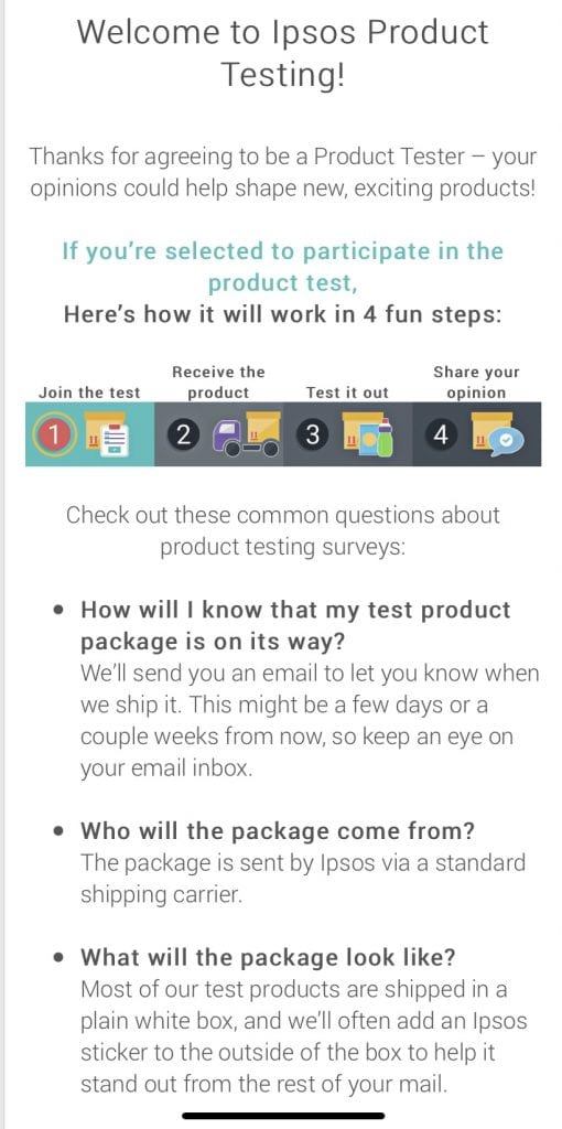 product testing with i-say