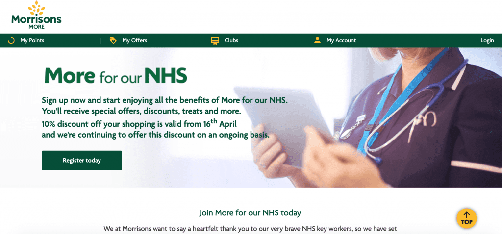 nhs discounts for morrisons