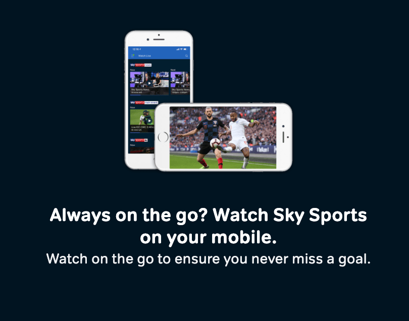 watch sky sports from a mobile without subscription