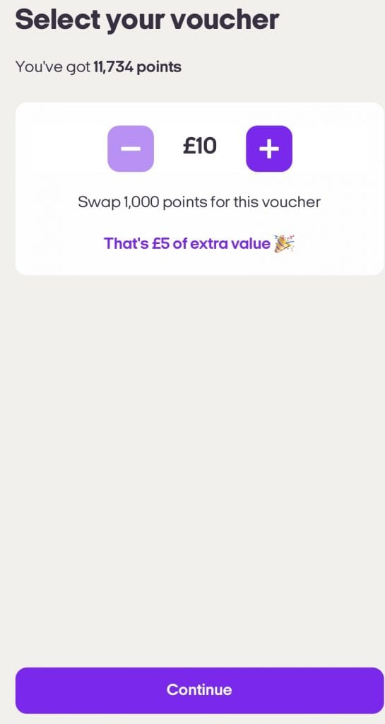 convert nectar points using the app