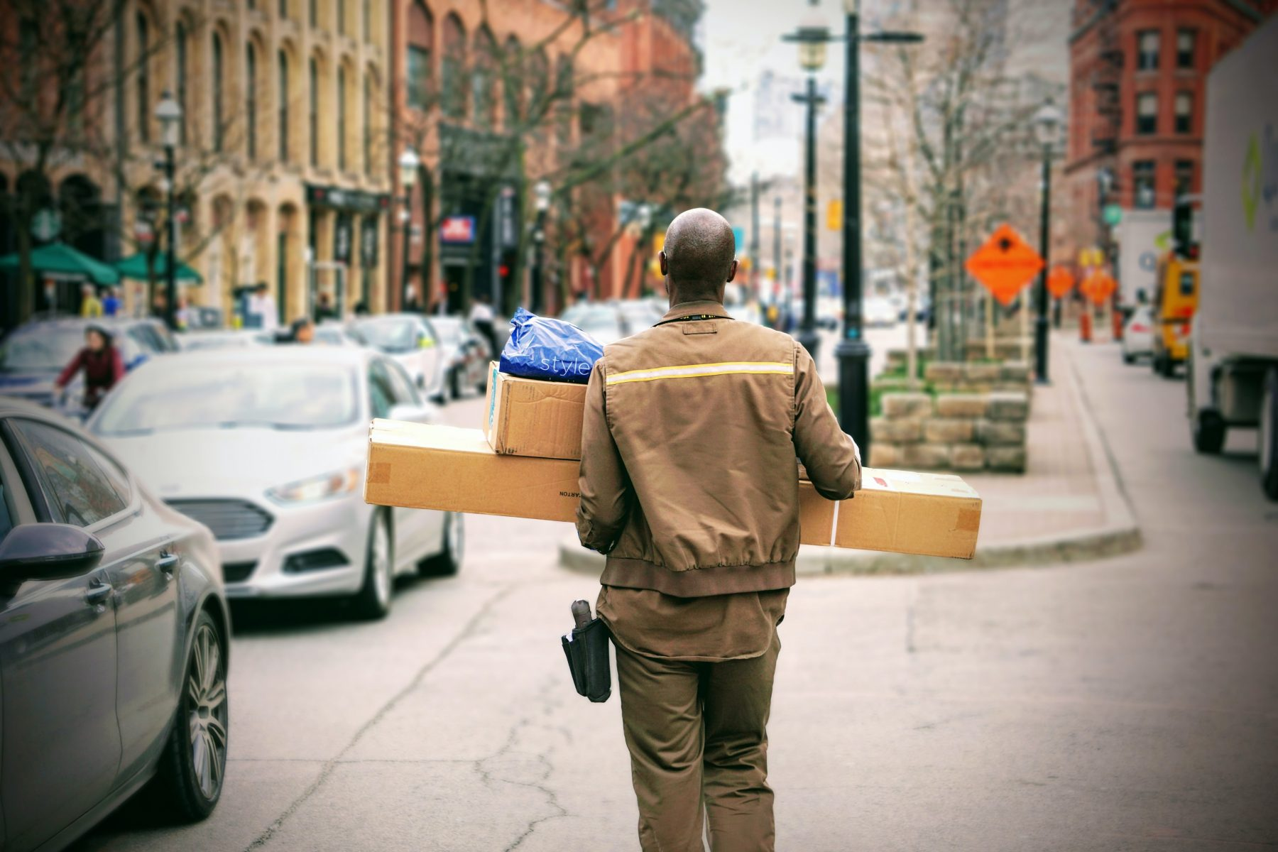 working as a delivery driver