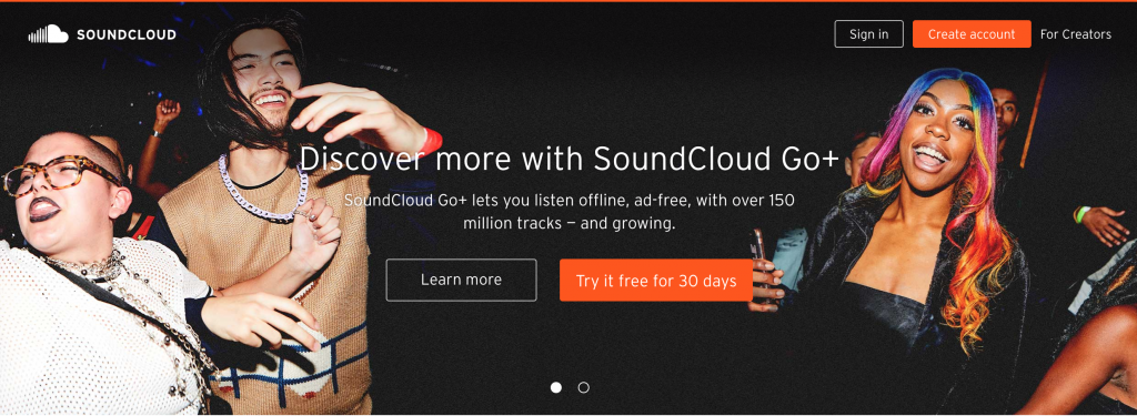 soundcloud - music subscription